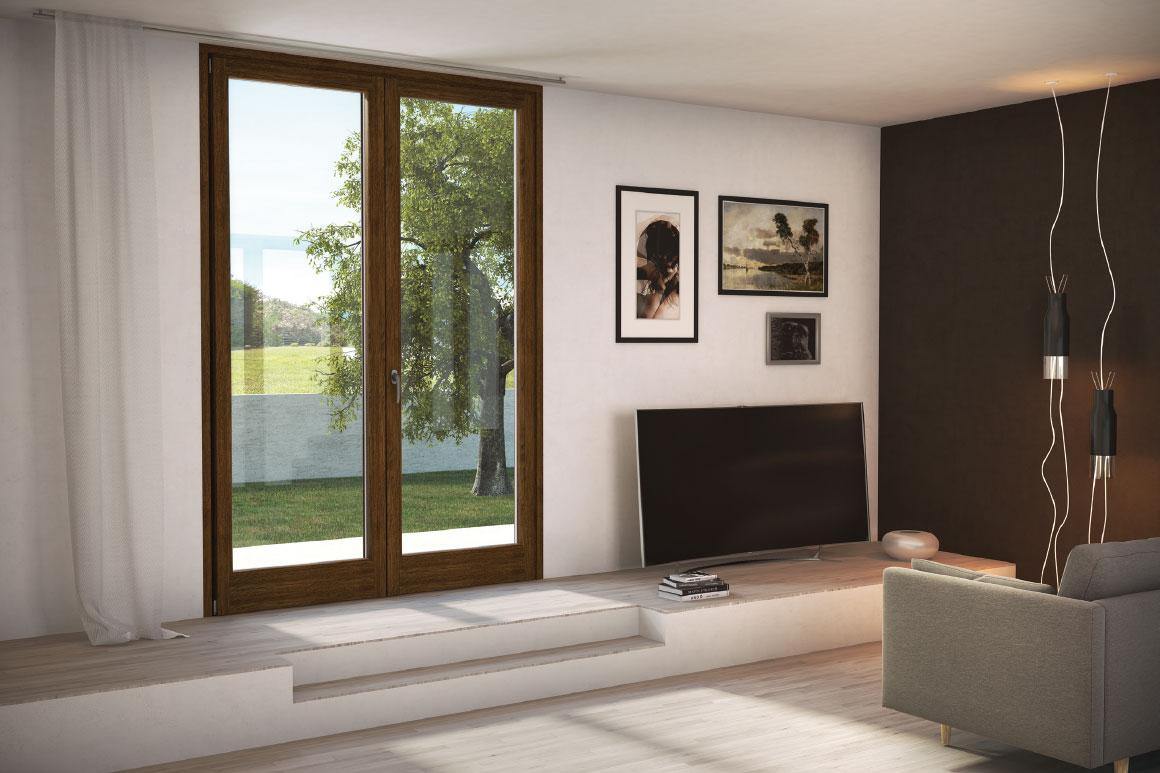 Meglio gli infissi in legno legno alluminio alluminio o for Infissi pvc legno