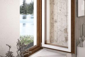 infissi in legno legno-alluminio alluminio o PVC
