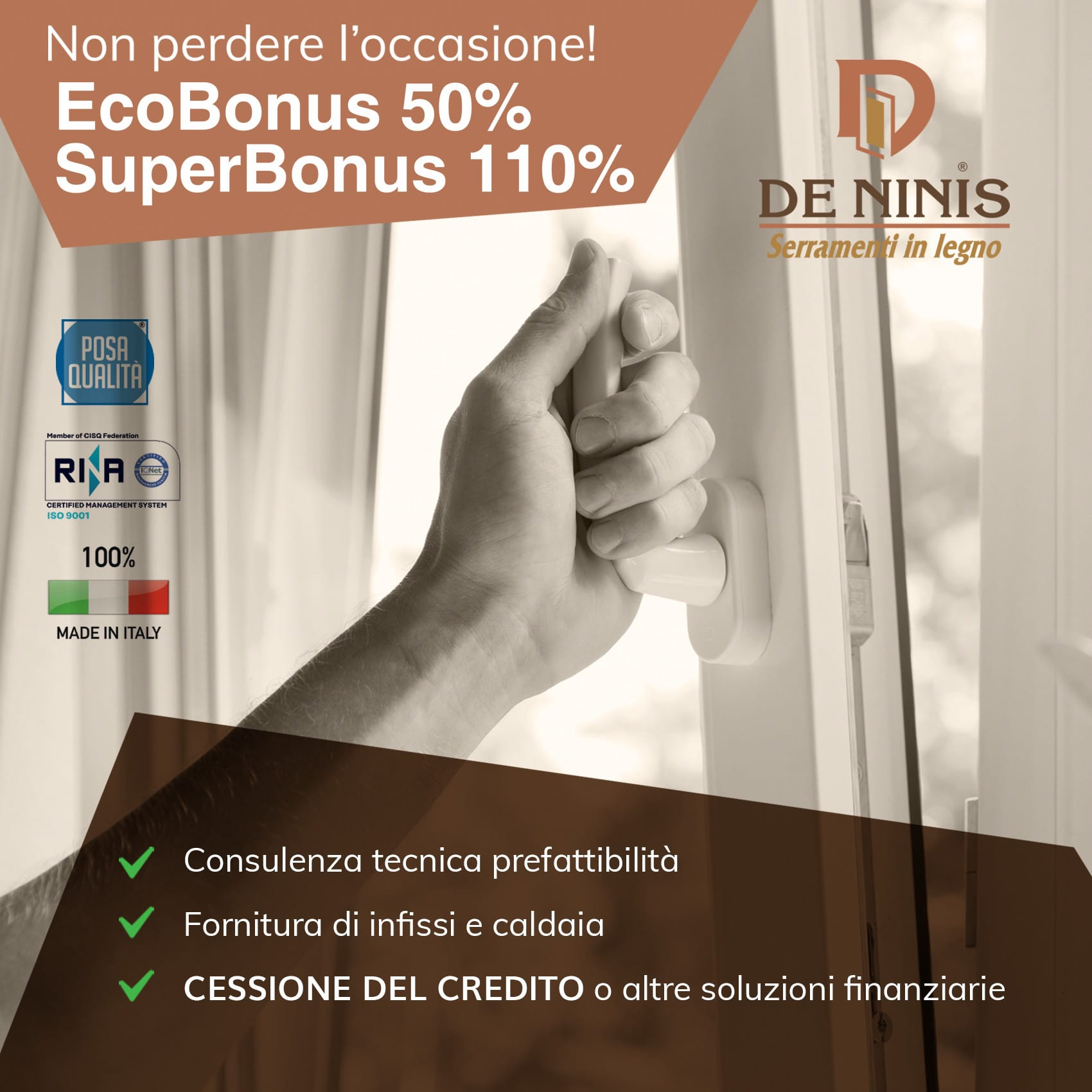 infissi sconto fiscale 50% 110%