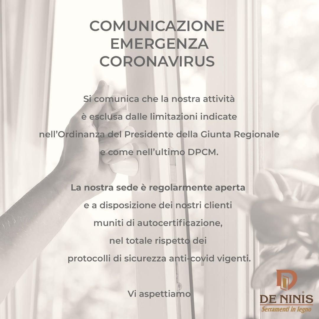 comunicazione emergenza coronavirus